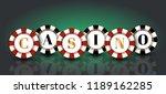 red black casino chips on the... | Shutterstock .eps vector #1189162285