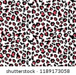 leopard pattern design  vector... | Shutterstock .eps vector #1189173058