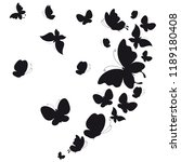 black butterfly  isolated on a... | Shutterstock . vector #1189180408