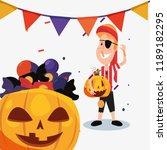 halloween celebration day | Shutterstock .eps vector #1189182295