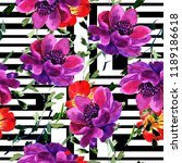 seamless background. watercolor ... | Shutterstock . vector #1189186618