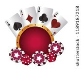 casino poker suit cards chip... | Shutterstock .eps vector #1189187218