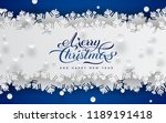 merry christmas and happy new... | Shutterstock .eps vector #1189191418