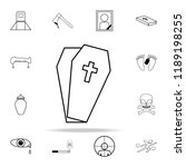 coffin icon. death icons... | Shutterstock .eps vector #1189198255