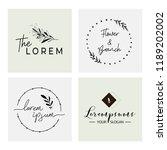 logo templates set. elegant... | Shutterstock .eps vector #1189202002
