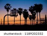 venice beach basketball court... | Shutterstock . vector #1189202332
