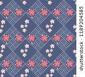 cherry blossom pattern vector... | Shutterstock .eps vector #1189204585