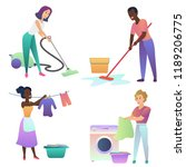 isolated vector adult people... | Shutterstock .eps vector #1189206775