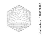 wireframe mesh objects. network ... | Shutterstock .eps vector #1189208182