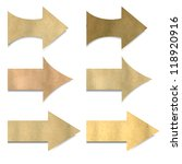 old paper arrows set with... | Shutterstock .eps vector #118920916