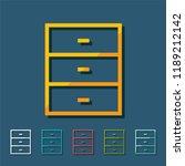 kitchen cupboard line icon ... | Shutterstock .eps vector #1189212142