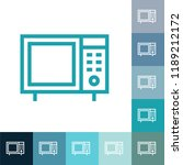 microwave line icon  filled... | Shutterstock .eps vector #1189212172