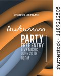 night party banner template for ...   Shutterstock .eps vector #1189212505