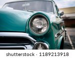 Old School Blue Car Headlight