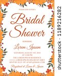 autumn bridal shower invitation ... | Shutterstock .eps vector #1189216282