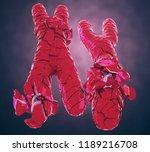 3d illustration of broken or... | Shutterstock . vector #1189216708