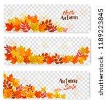 Set Of Three Autumn Sale...