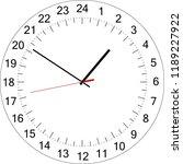 24 hours clock dial. full day... | Shutterstock .eps vector #1189227922