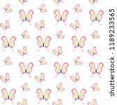 butterfly seamless pattern on... | Shutterstock . vector #1189233565