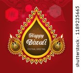 happy diwali   traditional... | Shutterstock .eps vector #1189235665
