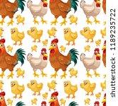 chicken seamless background... | Shutterstock .eps vector #1189235722