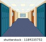 a modern school hallway... | Shutterstock .eps vector #1189235752