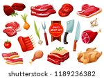 butchery meat products and... | Shutterstock .eps vector #1189236382