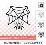 spider web thin line icon.... | Shutterstock .eps vector #1189239655