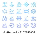 marine thin line icons set.... | Shutterstock .eps vector #1189239658