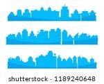 city skyline blue in white...   Shutterstock .eps vector #1189240648