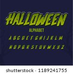set halloween font.green spooky ... | Shutterstock .eps vector #1189241755