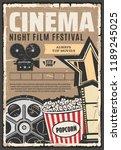 cinema film festival vector... | Shutterstock .eps vector #1189245025