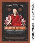 buddhism religion  monk and... | Shutterstock .eps vector #1189245028