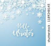 hello winter design background. ... | Shutterstock .eps vector #1189248145
