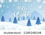 hello winter design background. ...   Shutterstock .eps vector #1189248148