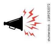 speaker icon. vector voice... | Shutterstock .eps vector #1189252072