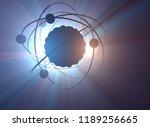 3d illustration. nuclear power  ... | Shutterstock . vector #1189256665