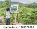 children drawing natural... | Shutterstock . vector #1189260985