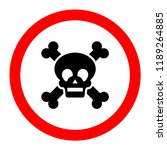 death icon  danger and warning... | Shutterstock .eps vector #1189264885