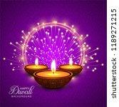 happy diwali diya oil lamp... | Shutterstock .eps vector #1189271215