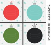 Set Of Four Christmas Baubles...