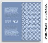 card  invitation  cover... | Shutterstock .eps vector #1189285822