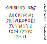 full set of comic font. letters ... | Shutterstock . vector #1189290985