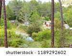 campground in france | Shutterstock . vector #1189292602