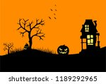 happy halloween theme greeting... | Shutterstock .eps vector #1189292965