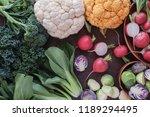 cruciferous vegetables ...   Shutterstock . vector #1189294495