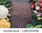 cruciferous vegetables ... | Shutterstock . vector #1189294498