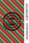 anus christmas emblem... | Shutterstock .eps vector #1189300765