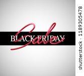 black friday sale advertisement ... | Shutterstock .eps vector #1189305478