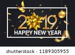 happy new year 2019 vector... | Shutterstock .eps vector #1189305955